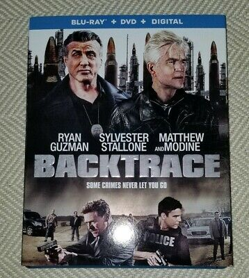 Backtrace 2019 Blu-Ray Dvd Combo With Slipcover No Digital Hd Code Stallone