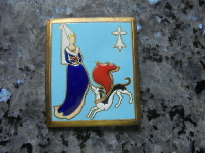 superbe broche ancienne emaillée