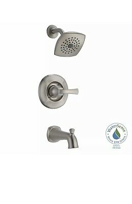 Delta Dawson Brushed Nickel 1-Handle Tub and Shower Faucet #144720-SS
