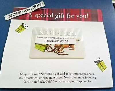 $100 Nordstrom  Gift Card ~ Never Used Or Activated
