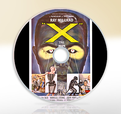 X The Man With The X-ray Eyes (1963) DVD Classic Sci-Fi Movie / Film Ray Milland