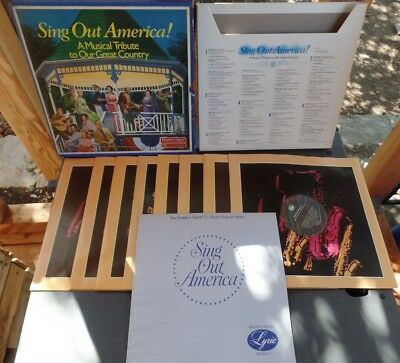 """Readers Digest 8LP Record Collection """"Sing Out America"""" A tribute to USA"""