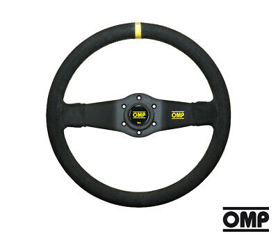 OMP Corsica Race//Racing//Rally//Motorsport 330mm Black Suede Steering Wheel