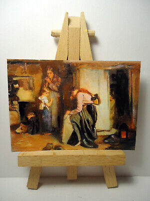 No Tidings ACEO Original PAINTING by Ray Dicken a Frank Holl