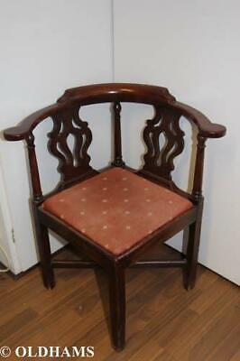 Lovely Georgian Mahogany Corner Armchair