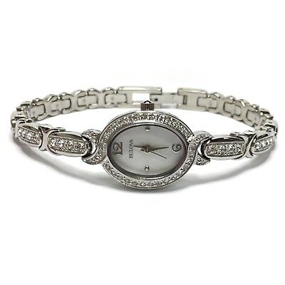 Bulova Mother of Pearl Crystals Ladies Watch 96L199 GVM7164