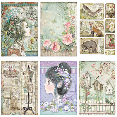 Stamperia - Rice Paper x1 A4 Sheet - STEAMPUNK & VARIOUS OTHER THEMES