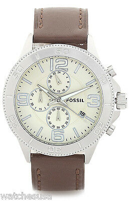 c163cd153da FOSSIL MEN S NEUTRA Chronograph Brown Leather Watch FS5380 -  182.00 ...