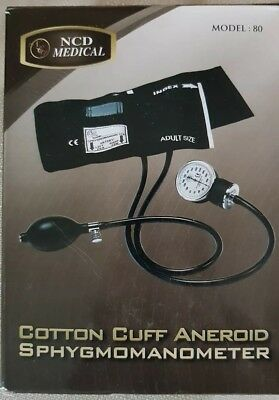NCD Medical Blood Pressure Sphygmomanometer Cuff Black New