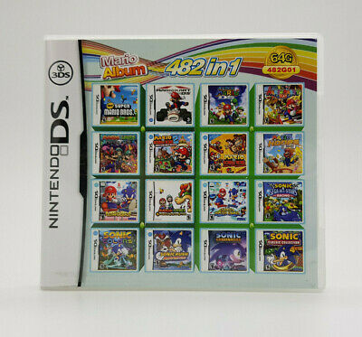 482 in 1(Golden Sun Sonic Worms:Open Warfare Call of Duty:Black Ops) DS 2DS 3DS