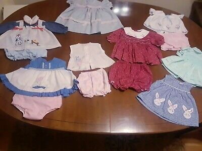 Vintage 13 Piece Lot Retro Baby Clothes for Babies or Life Sized Dolls Reborns