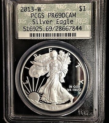 2013-W American Silver Eagle Proof PCGS PR69DCAM West Point