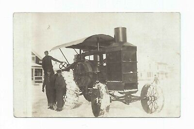 A Rare Postcard of a 30-60 Oliver Hart-Parr gas engine tractor Charles City, IA
