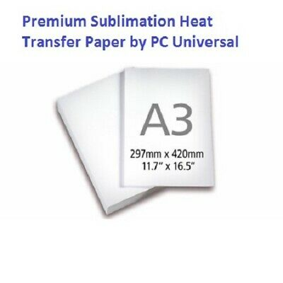 100 Sheets A3 (11.7x16.5) Premium Quality Sublimation Paper Heat Transfer Paper