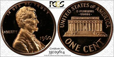 1960 Large Date 1c Lincoln Memorial Cent PCGS PR66RD CAM Cameo Red Proof Penny