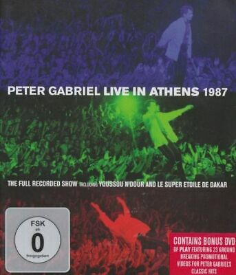 PETER GABRIEL: Live In Athens 1987 + Play The Videos (2 DVDs, 2013)