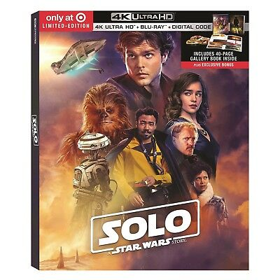 Solo Star Wars Story Target Exclusive 4K Ultra HD  Blu-Ray 40 Page Book