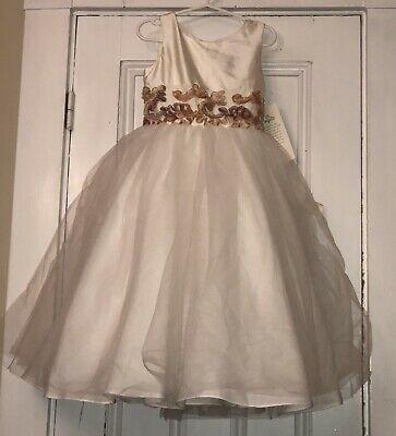 caa7dbf3307 ... SLEEVELESS SATIN TULLE PETAL DRESS Sz 4 NEW   118.