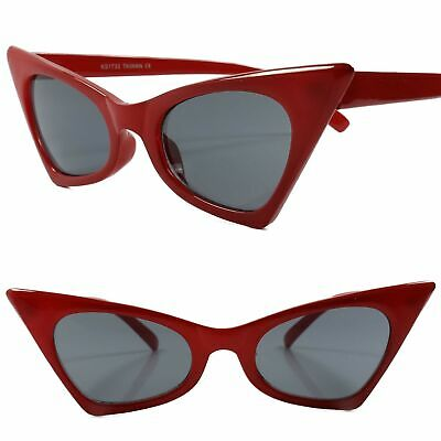 f692212b7d4 Classic Vintage Retro 80s 90s Look Chic Sexy Foxy Womens Red Cat Eye  Sunglasses