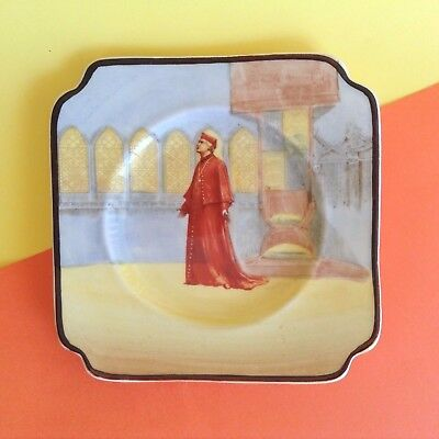 ANTIQUE ROYAL DOULTON 1920s WOLSEY SHAKESPEARE SERIES WARE SQUARE PLATE D3596