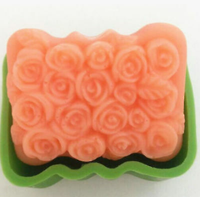 Rose Flower Flexible Silicone Handmade Craft DIY Arts Candy Soap Mold 100ml # GY