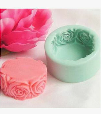 Rose Flower Flexible Silicone Handmade Craft DIY Arts Candy Soap Mold 7*3cm # GY