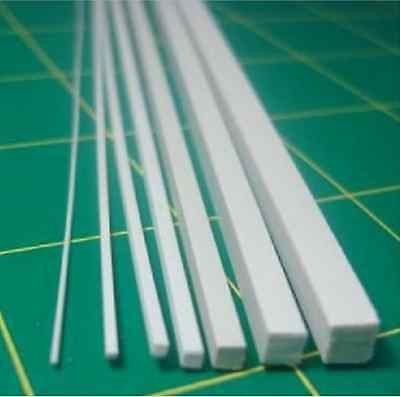 10 pcs ABS Styrene Plastic Square Bar Rods Width 6mmX500mm White #B35  GY