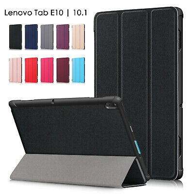 "For Lenovo Tab E10 | 10.1"" Tablet Slim Magnetic Folding cover PU Leather Case OZ"