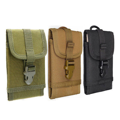 Nylon Outdoor Army Tactical Pouch Holster Cell Phone Case Bag Holder Belt