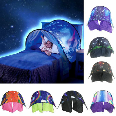Dream Tents Kid Unicorn Space Foldable Tent Pop up Indoor Bed House +Tents Light