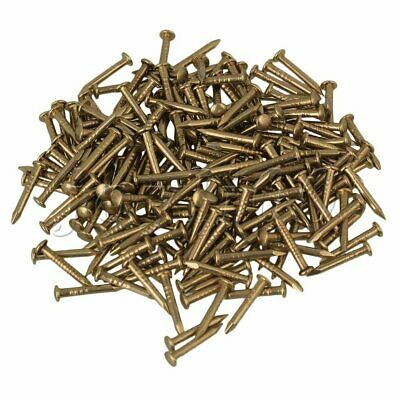 100pcs Antique Brass Round Head Copper Nail 1.2mm Dia for Furniture Hinge