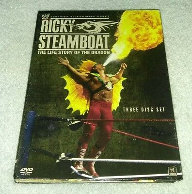 WWE: Ricky Steamboat: The Life Story of the Dragon (DVD, 2010, 3-Disc Set)