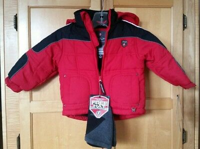 c33deb8195f2 NWT BURBERRY BABY Boys Military Red Down Jacket 12 Months -  209.00 ...