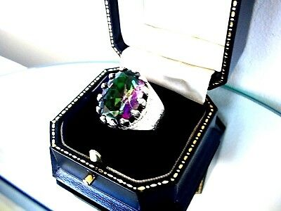 """Exquisite   """"rainbow Mystic Topaz""""  Colour Changing Ring  ~ Sterling Silver 925"""