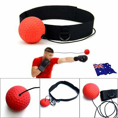 Boxing Punch Exercise Fight Ball Head Band Reflex Speed Training Speedball MN