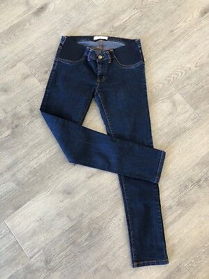 TARGET Size 10 Women's Ladies MATERNITY Pregnancy JEANS Blue DENIM SKINNY Small