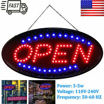 Ultra Bright LED Neon Light Animated Motion W/ ON/OFF OPEN Business Sign US