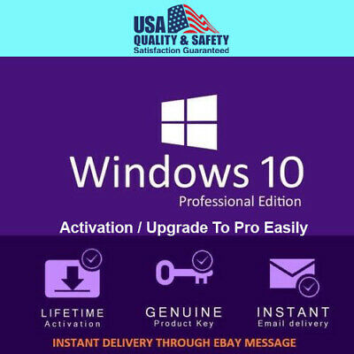 Windows 10 Pro 32 / 64bit Professional License Key Original Fast shipping