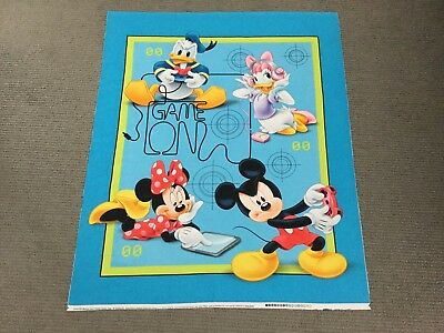 Mickey Mouse Fabric Panel Disney Baby Nursery Cot Quilt Panel Minnie Donald Duck