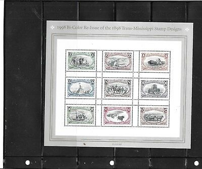 United States  3209,3210, 1998, Trans-Mississippi Stamps- 2 Sheets Of 9   Mnh