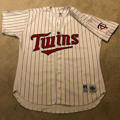 fc84a0699 minnesota twins home jersey 90S VINTAGE MLB MINNESOTA TWINS Russell  Athletic White ...