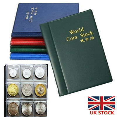 Coin Collection 120 Holders Storage Money Penny Pocket Album Book Folder
