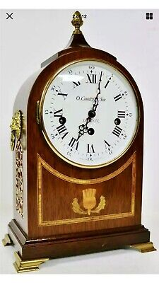 Beautiful Vintage Comitti London Mahogany Musical Westminster Chime Mantel Clock