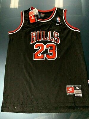 Michael Jordan #23 Black Hardwood Classics Chicago Bulls Kids/Youth Jersey