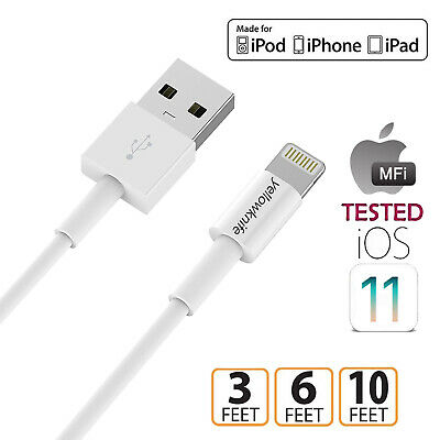 MFi Certified Lightning Cable 3/6/10FT USB Charge & Sync Cord For iPhone XS, Lot