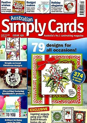 Australian Simply Cards  Magazine Issue 125. 2018 Free 'Build A Wreath' Die Set