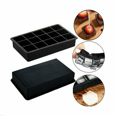 15 Grid Silicone Square Ice Tray Mold Frozen Maker Big Ice Cube Tray Bar Mould S