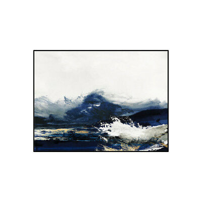 Modern Abstract Seascape Hand Painted Oil Painting Art Living Room Decor Canvas