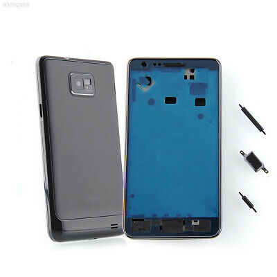 7AA7 NEW Full Back Battery Cover + Frame + Button for Samaung Galaxy S2 i9100 ^