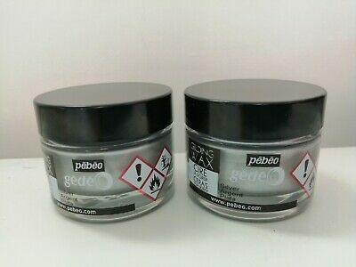 NEW GILDING WAX PEBEO GEDEO SILVER ARGENT PLATA 30ML x 2 3597587665106